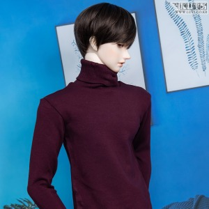 GSDF BOY Simple turtleneck(Wine)