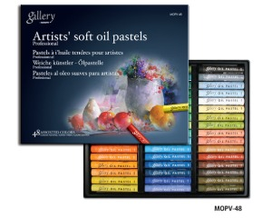 Munkyo Gallery Soft Oil Pastel 48 Colors / MOPV-48