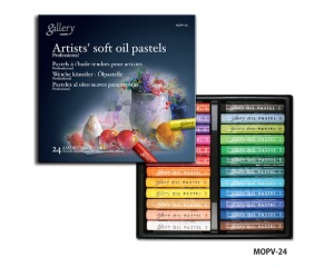 Munkyo Gallery Soft Oil Pastel 24 Colors / MOPV-24